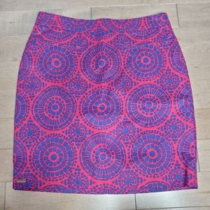 Red and blue Hatley mini skirt